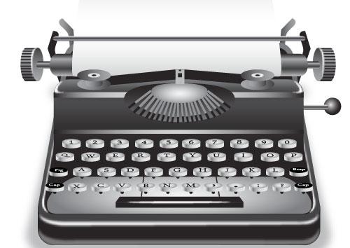 Illustrator-drawing-typewriter