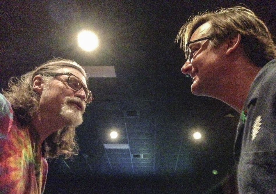 The author and Clay Brennecke ran into each other at the 2014 Grateful Dead Meet-up at the Movies, a fond reunion.
