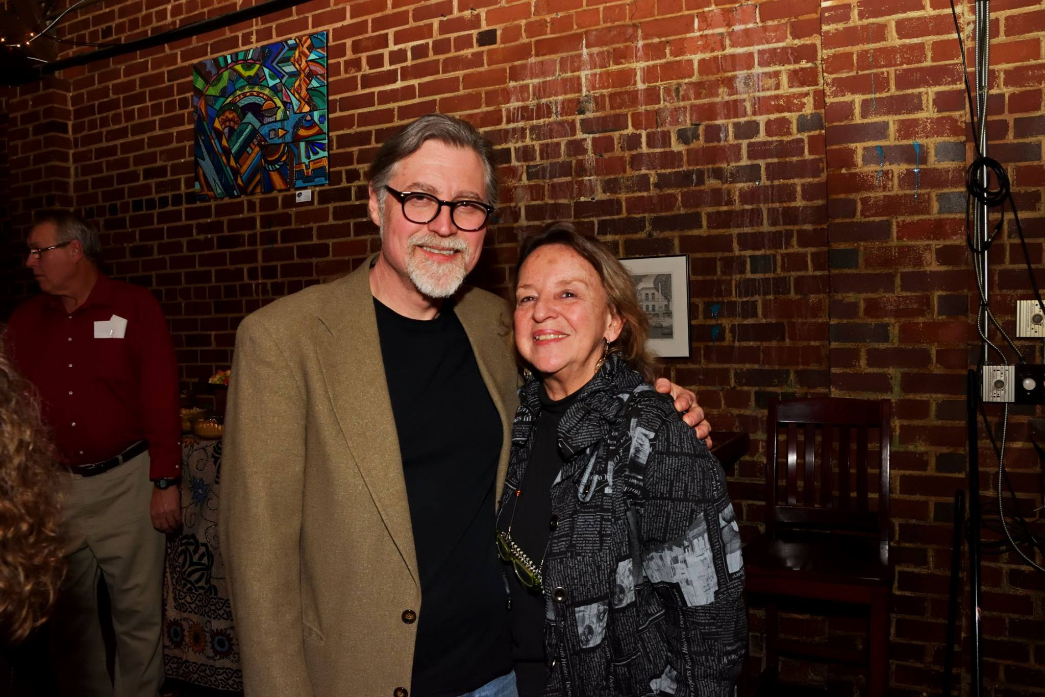 With longtime supporter and friend Sara June Goldstein of the SC Arts Commission.